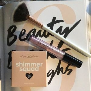 Eye and Cheek Shimmer Set with Fan Brush